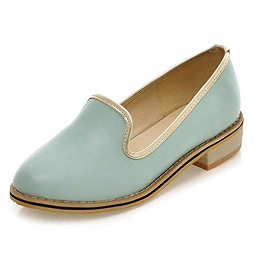 Chaussures Talon bas Femmes Bloc Enfiler COOLCEPT Mode Bleu A Escarpins cWBqvw8Pw