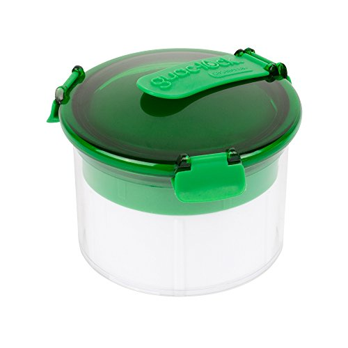 Casabella Guac-Lock Container, Green/White Dip-keeper