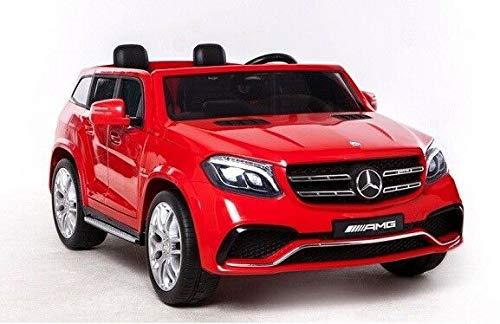 SL Lifestyle Kinderauto Eletroauto Mercedes rot GLS63 echter Allradantrieb mit Zwei 12V/7Ah Akkus Kinderauto elektrisch
