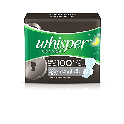 Whisper Ultra Nights Sanitary Pads - XXXL Wings (3 Pads)