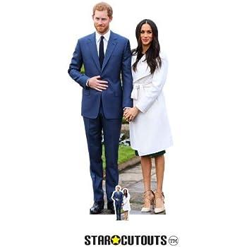 Prince Harry /& Meghan Markle  LIFESIZE Cardboard Cutout with FREE table top mini