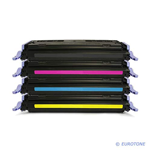4X Eurotone Remanufactured Toner für HP Color Laserjet 1600 2600 2605 DN N DTN ersetzt Q6000A-03A 124A (Color Hp Laserjet Drucker 1600)
