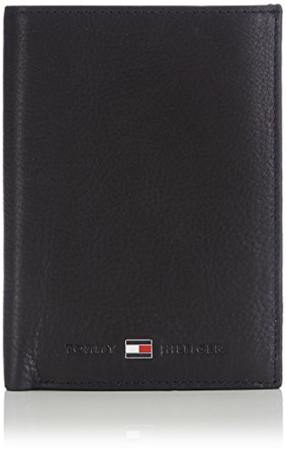 Tommy Hilfiger Johnson N/S Wallet W/Coin Pocket Porta Carte di Credito, 75 cm, Nero