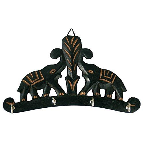 2elefantes de madera tallado a mano colgante de pared titular de la...