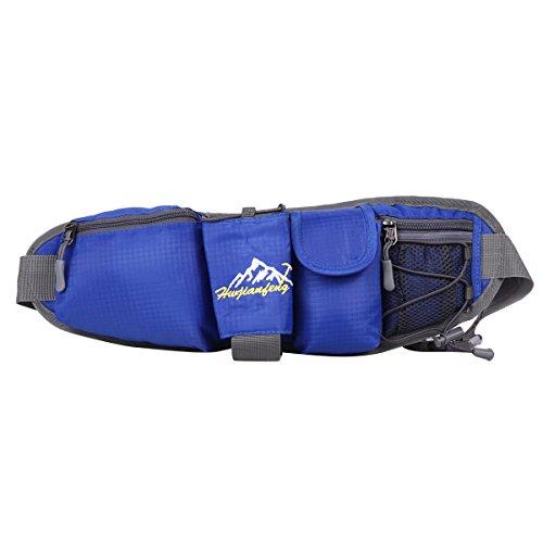 HWJIANFENG Borsa da Trekking Outdoor Unisex Protezione Impermeabile Marsupio per Ciclismo Alpinismo Zaino Escursionismo di Corsa Sacchetto Campeggio zaffiro