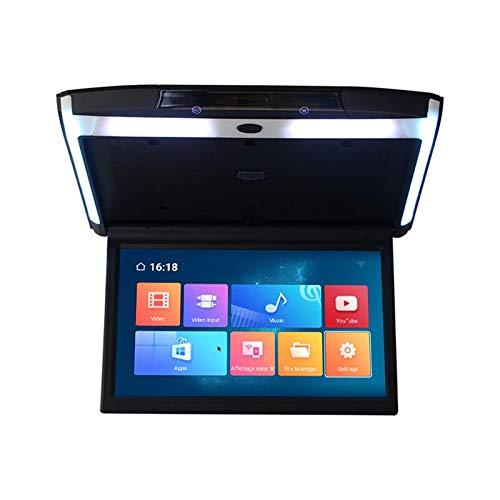 Hahaiyu 12-Zoll-Android-Auto-Flip-Down-Monitor, Spieler-Handy-Spiegel-Verbindungsunterstützung des Auto-Mp5 USB, TF, Mini-HDMI, FM, IR, Bluetooth-Verbindung 4K-Handyverbindung,Black (12 Hdmi-monitor Zoll)