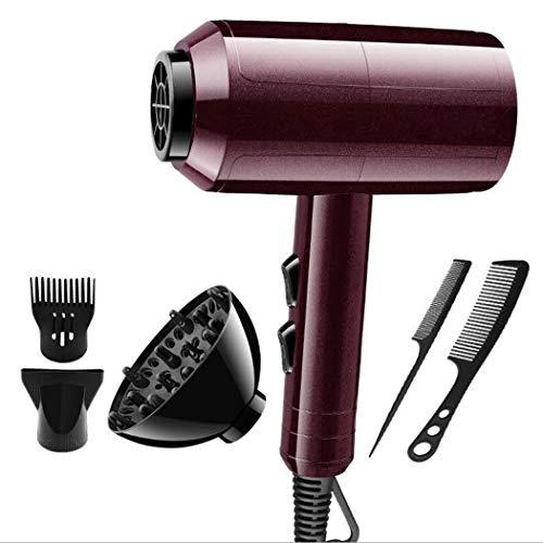 2-speed-trockner (Salon Hair Dryer 2200W schnelle Trocknung Professional Hair Trockner 2 Speed 3 Heat Mit Diffuser/Concentrator-Comcentrator-Comb Air Düsen-Anlagen AC Motor Black,winered)