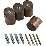 IRICH 4 Stücke Holz Wandmontage Haken, Handtuchhaken mit M6 Schrauben, Max 15kg für Bad Küche Haushalt Toilette Badezimmer Schränke, Verschönern Sie Ihr Zuhause