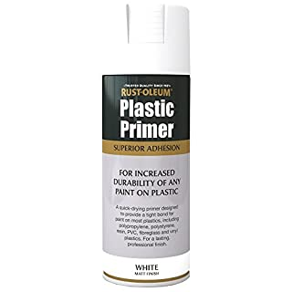 Rust-Oleum AE0030003E8 400ml Plastic Primer Spray Paint-White, not_ not_Applicable