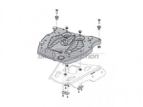 Preisvergleich Produktbild SW Motech QUICK-LOCK Adapterplatte GIVI / Kappa Monokey Nylon schwarz