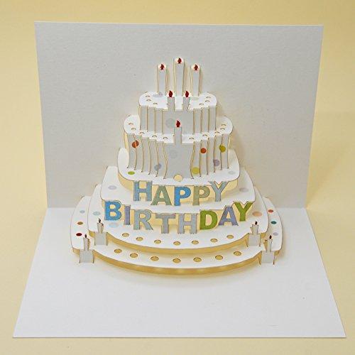 Forever Handmade Pop Up Karte zum Geburtstag - edel und elegant mit verblüffender Wirkung beim Öffnen, da im Lasercut-Verfahren aus einem Blatt hochwertigen Kartons hergestellt. Designed und produziert von Ge Feng im walisischen Ross-on-Wye. GP019