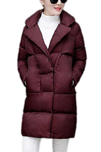 Élégant laine lâche vêtements manteau des femmes avec poches Winered