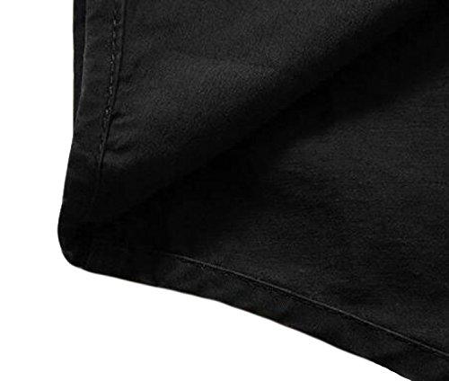 Größe Männer Beiläufiges Loser Shirt Frühling Und Herbst Langärmeliges Baumwollhemd Hemd Brown
