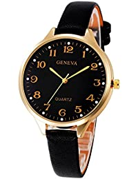 Sunday Mujeres Casual Checkers Faux Leather Quartz Analog Wrist Watch Relojes  Deportivos Mujer Sunday Reloje Relojes 28ccad5ceae8