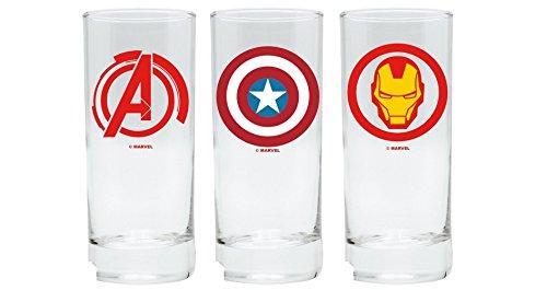 Marvel Comics–Juego de 3vasos–Avengers–Captain America–Iron Man
