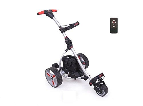 Elektro Golf Trolley PGE 2.0 Funkfernbedienung, 400W, Akku 33Ah, Farbe Silber