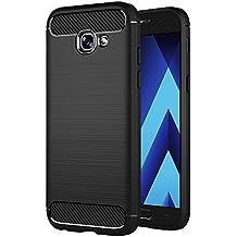 "Funda Samsung Galaxy A3 2017, AICEK Samsung A3 2017 A320F/A320FL Funda Negro Gel de Silicona Galaxy A3 2017 Carcasa Fibra de Carbono Funda para Samsung A3 2017 4.7"""
