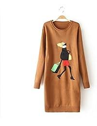 Ladies Nueva moda niñas Patterned Knit Pullover