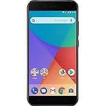 "Xiaomi Mi A1 - Smartphone libre de 5.5"" (4G, WiFi, Bluetooth, Snapdragon 625 Octa Core, 32 GB de ROM ampliable con microSD, 4 GB de RAM, cámara dual de 12 Mp, Android One), negro [versión española]"