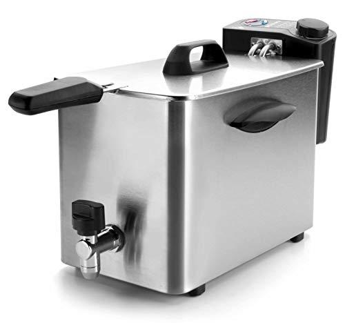 Lacor - 69134 - Freidora eléctrica Con Grifo 2500w