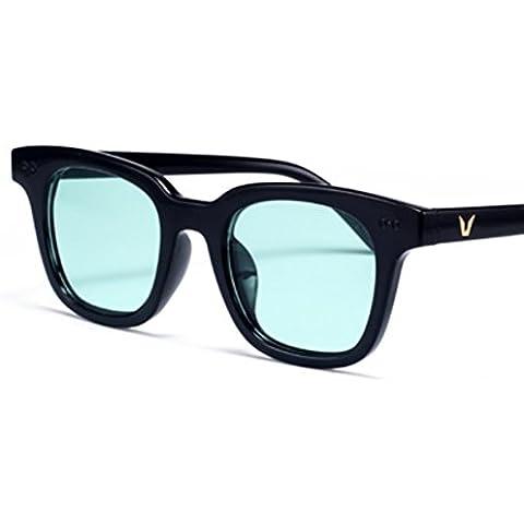 ZWX Versione coreana degli occhiali di colore trasparente/Occhiali da sole faccia piccola scatola quadrata/Occhiali da sole colore gelatina-G