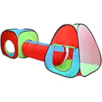 Childrens, Kids Pop Up Play Tent and Tunnel Set - In Red/Blue/Green