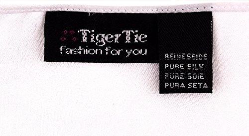 reinweiss – gewebtes TigerTie Einstecktuch in der Farbe Reinweiß Weiss – Tuch Kavalierstuch Pochette Stecktuch 100% Seide - 2
