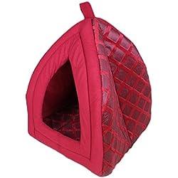 Lujo Igloo mascotas perro gato suave cómodo Casa Cama Igloo