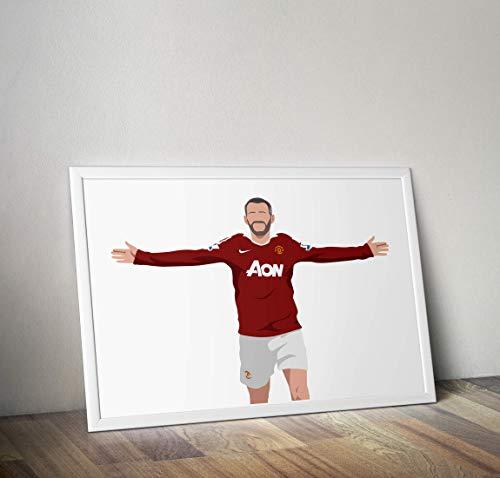 Ryan Giggs inspirierte Poster - Zitat - Alternative Sport/Fußball Prints in verschiedenen Größen (Rahmen nicht im Lieferumfang enthalten) -