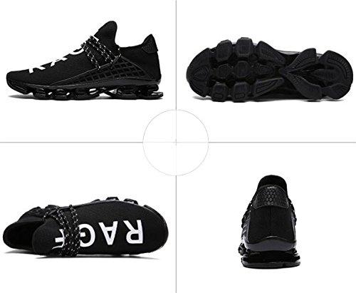 DADAWEN Chaussures de Running Entrainement pour adulte Noir