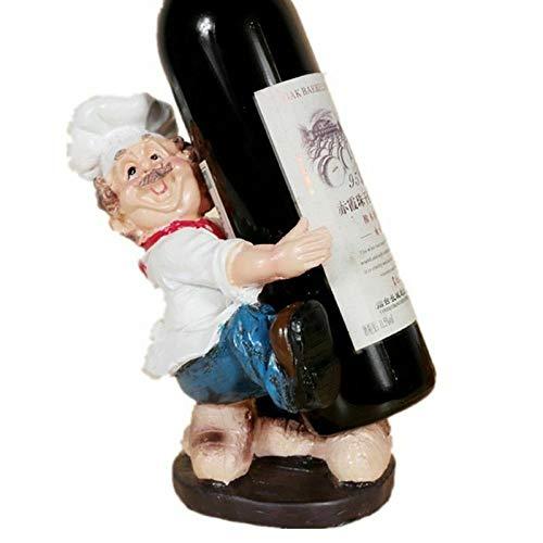 XCTT Französischer Koch Pattern Resin Material Weinhalter Figuren Home Und Bar Dekoration,B - Rack Wein Französisch