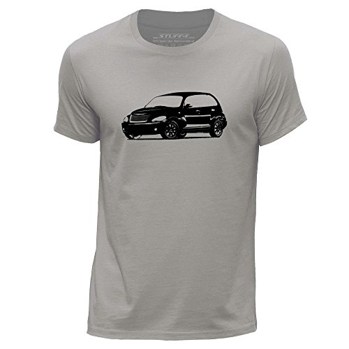 stuff4-herren-x-gross-xl-hellgrau-rundhals-t-shirt-schablone-auto-kunst-pt-cruiser