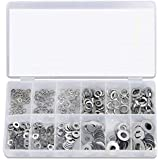 DIY Crafts Flat & Spring Stainless Steel Split Lock and Flat Washer Assortment 1350-Piece Pack Set