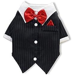 PETCUTE Trajes de Perro la Camisa Traje de Smoking Vestido de la Princesa del Animal Doméstico de la Capa del Falda del Vestido Regalo de Halloween de la Navidad