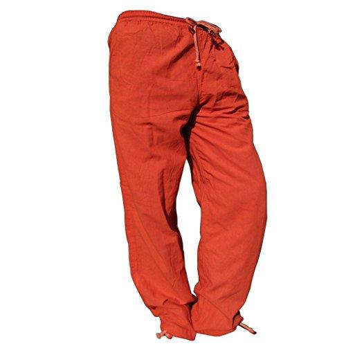 Panasiam *E*-Pants, Stoffhose für denn Alltag, Sport, Yoga, Jogging u.v.m., für GROßE Menschen ab 1,80m !! Aus 100%B.wolle fuchsrot