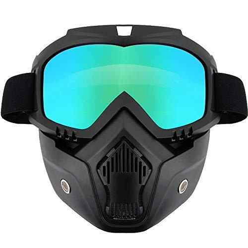 WJQ Motorradbrillen Abnehmbare Reitmaske kann mit Stirnbandbrillen ausgestattet Werden. Staubdichter Uv-Schutz ist Nicht einfach zu schieben