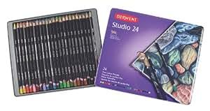 Derwent Studio Confezione da 24 Matite Colorate in Scatola di Metallo