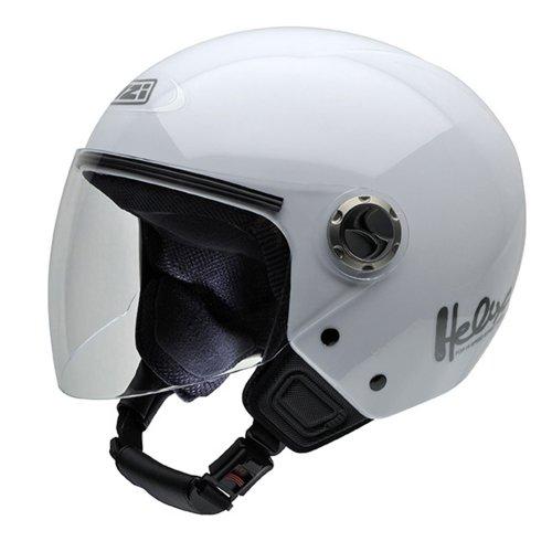 NZI 050180G001 Helix IV Motorcycle Helmet, White, Size 55-56 (S)