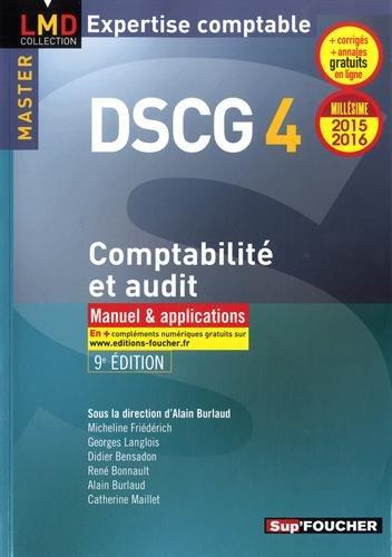 DSCG 4 - Comptabilité et audit 2015-2016 - Manuel & applications - 8e édition