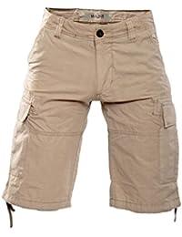 Short de coton pour homme Cargo YELP - beige by Gear