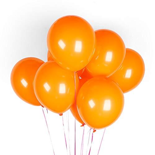 LaoLiu Matter Latexballon verdickt 9 Zoll für alle Arten von Weihnachtspartys, 2,2 g matt orange [100]