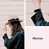 Mornex Strap Compatible Charge 3/Charge 3 SE Strap, Slim Genuine Leather Replacement Strap for Women/Men, Adjustable Wristband Smart Fitness Bracelet, Shiny Black