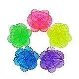 4Waschmaschine Ball Waschen Wäsche Trockner Stoff weich Helfer von zufällige Farbe