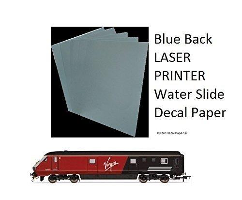 Azul agua deslice hacia atrás para papel–Impresora láser A4–cinco unidades tamaños 5 A4