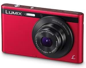 Panasonic Lumix DMC-XS1EG-R Digitalkamera (6,9 cm (2,7 Zoll) LCD-Display CCD-Sensor, 16,1 Megapixel, 5-fach opt. Zoom, 90MB interne Speicher, USB) rot
