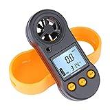 Dupeakya Indicador de Velocidad de Viento de LCD Digital, Termómetro de Anemómetro de Mano para Windsurf Surf Kite de Pesca Vuelo de Vela