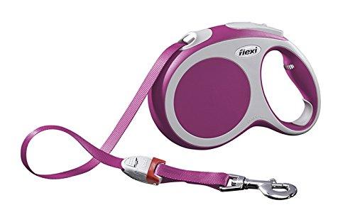 flexi Roll-Leine Vario L Gurt 5 m pink für Hunde bis max. 60 kg