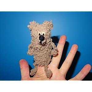 handgemachte Fingerpuppe Bär, gehäkelt, Geschenkidee, Puppentheater oder Therapiepuppe