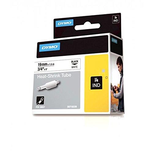 Dymo+Rhino+etichette+tubolari+termoretraibili+industriali+autoadesive,+19+mm+x+1,5+m,+stampa+nera+su+bianco,+18057