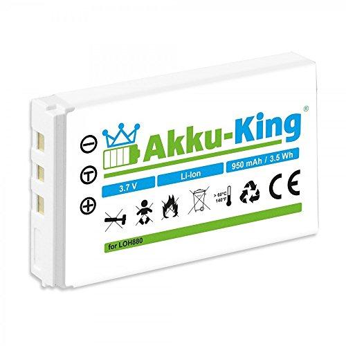Akku-King Akku für Logitech Harmony One 720, 785, 880, 885, 890, 895, 900, MX-880, MX-890 Fernbedienung, Harman Kardon TC30, Tastatur diNovo Edge - ersetzt R-RG7, R-IG7, F12440071 - Li-Ion 950mAh (Fernbedienung Harmony One)